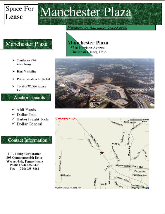 Click here to view Manchester Plaza Flyer