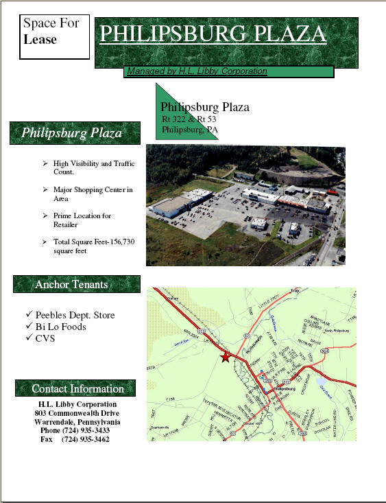 Click here to view the Philipsburg Plaza Flyer
