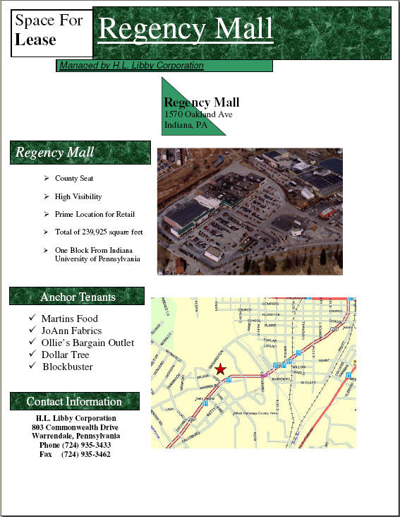 Click here to view the Regency Mall Flyer